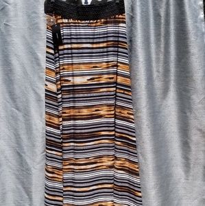 NEW Brown/Black/White Maxi Skirt LARGE